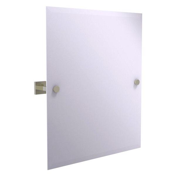 Allied Brass Montero 21-in Polished Nickel Rectangular Frameless Bathroom Mirror