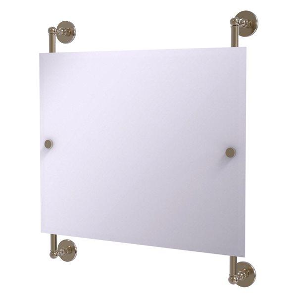 Allied Brass Prestige Skyline 26-in Antique Pewter Rectangular Frameless Bathroom Mirror