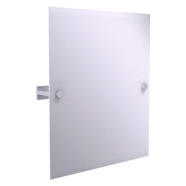 Allied Brass Montero 21-in Polished Chrome Rectangular Frameless Bathroom Mirror