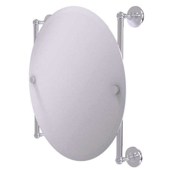Allied Brass Prestige Skyline 22-in Round Frameless Bathroom Mirror in Satin Chrome