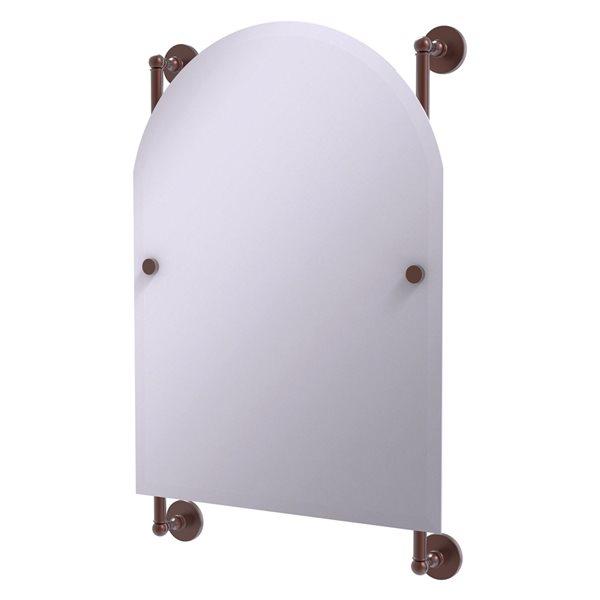 Allied Brass Prestige Skyline 21-in Antique Copper Arch Frameless Bathroom Mirror