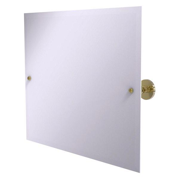 Allied Brass Prestige Skyline 21-in Unlacquered Brass Rectangular Frameless Bathroom Mirror