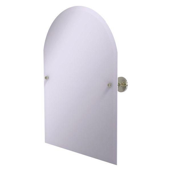 Allied Brass Prestige Skyline 29-in Polished Nickel Arch Frameless Bathroom Mirror