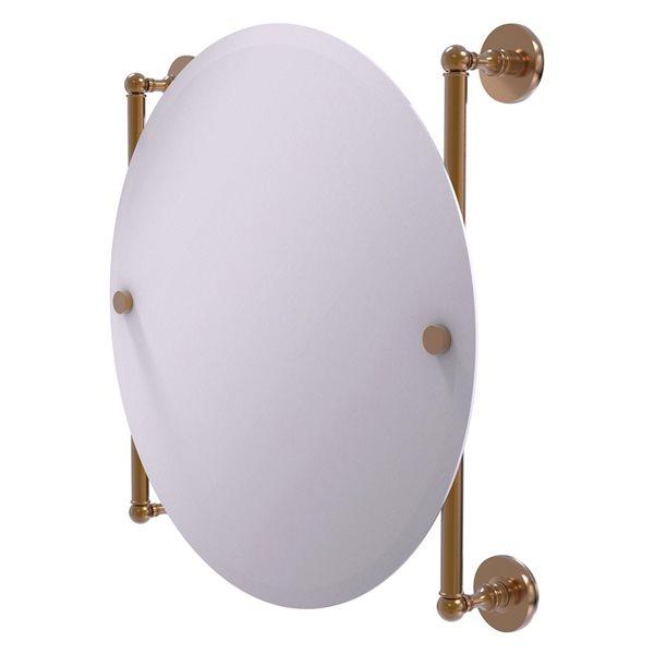 Allied Brass Prestige Skyline 22-in Round Frameless Bathroom Mirror in Brushed Bronze