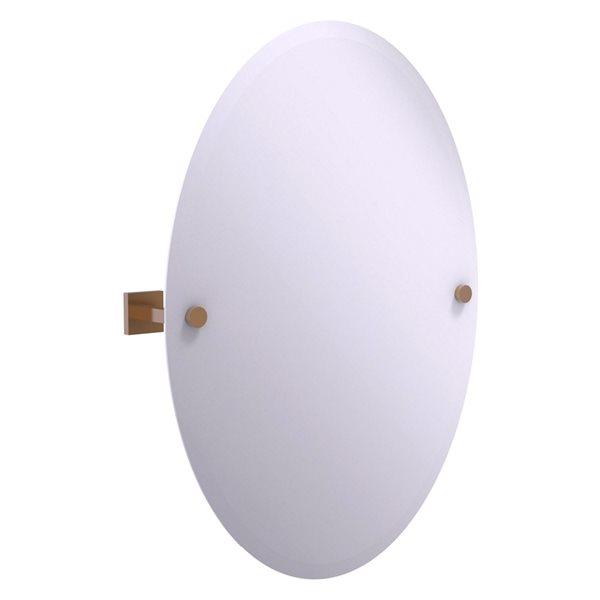 Allied Brass Montero 21.4-in Brushed Bronze Oval Frameless Bathroom Mirror