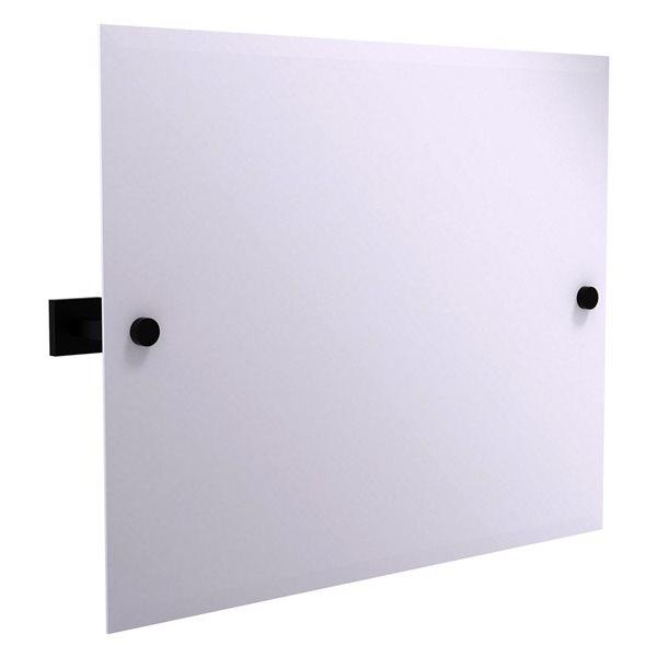 Allied Brass Montero 26-in Matte Black Rectangular Frameless Bathroom Mirror