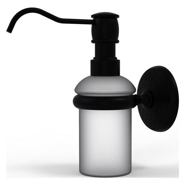 Allied Brass Monte Carlo Matte Black Soap and Lotion Dispenser