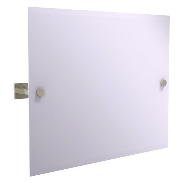 Allied Brass Montero 26-in Polished Nickel Rectangular Frameless Bathroom Mirror