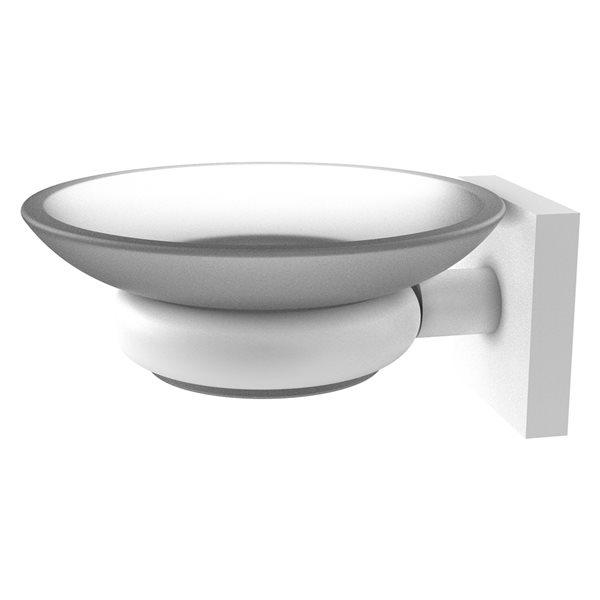 Allied Brass Montero Matte White Brass Soap Dish