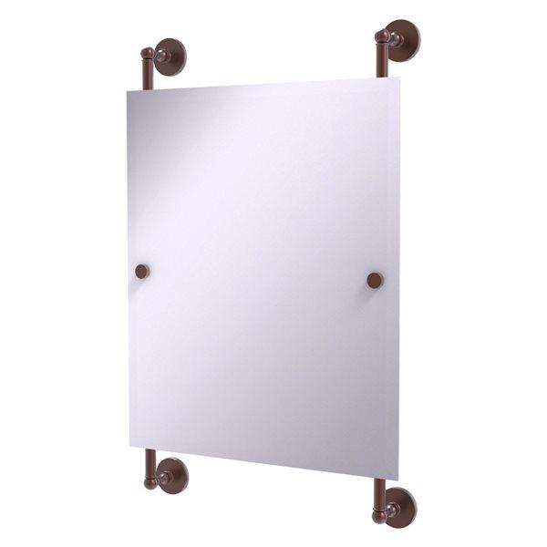 Allied Brass Prestige Skyline 21-in Rectangular Frameless Bathroom Mirror in Antique Copper