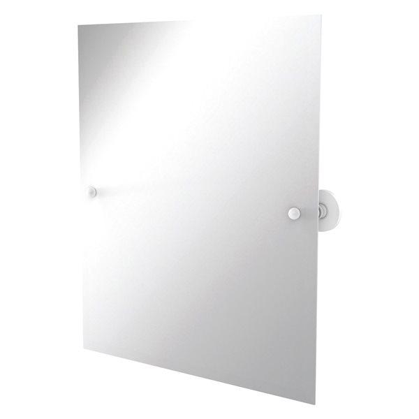 Allied Brass Prestige Skyline 26-in Rectangular Frameless Bathroom Mirror in Matte White