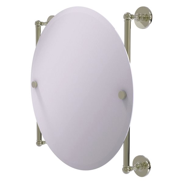 Allied Brass Prestige Skyline 22-in Round Frameless Bathroom Mirror in Polished Nickel