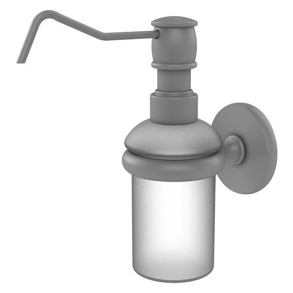 Allied Brass Prestige Skyline Matte Grey Soap and Lotion Dispenser
