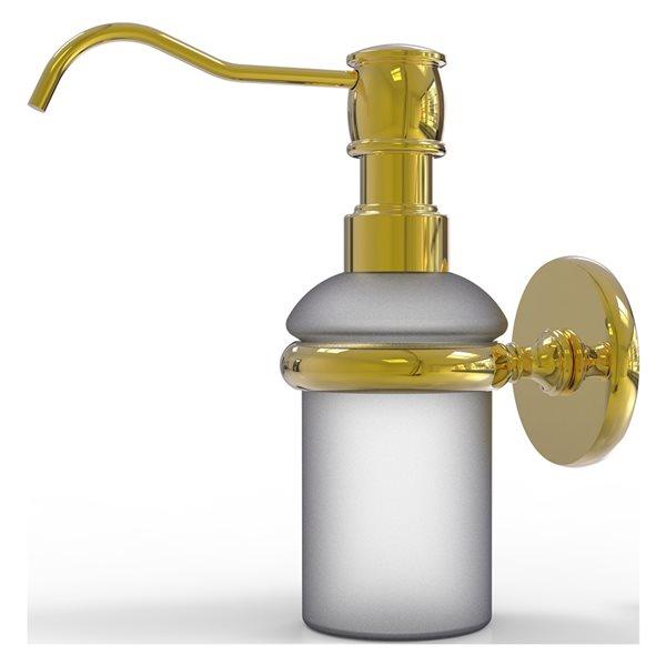 Allied Brass Prestige Skyline Polished Brass Soap and Lotion Dispenser