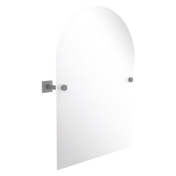 Allied Brass Montero 21-in Matte Grey Arch Frameless Bathroom Mirror
