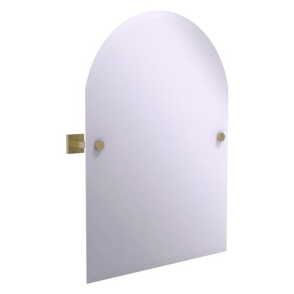 Allied Brass Montero 21-in Satin Brass Arch Frameless Bathroom Mirror