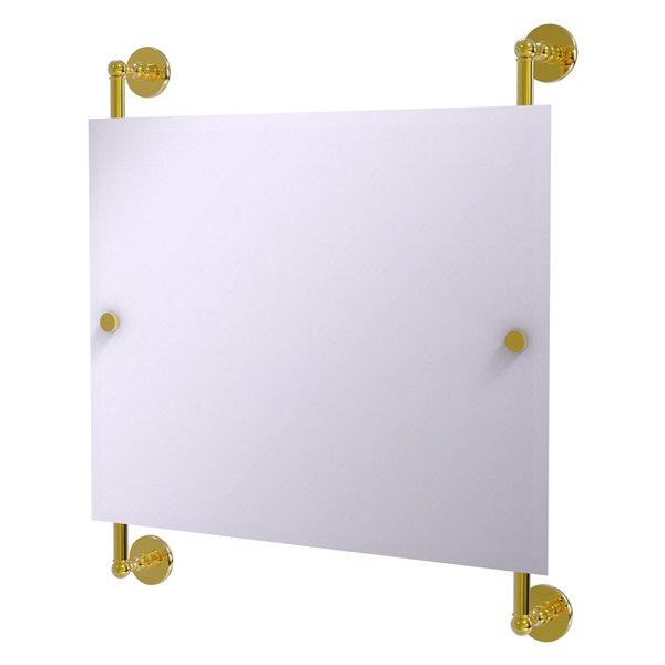 Allied Brass Prestige Skyline 26-in Polished Brass Rectangular Frameless Bathroom Mirror