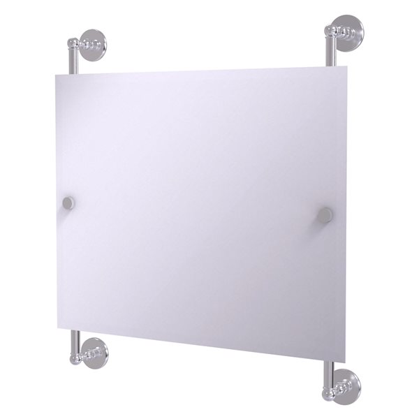 Allied Brass Prestige Skyline 26-in Satin Chrome Rectangular Frameless Bathroom Mirror