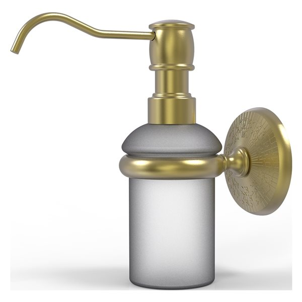 Allied Brass Monte Carlo Satin Brass Soap and Lotion Dispenser