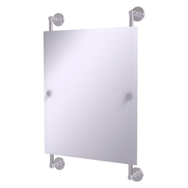 Allied Brass Prestige Skyline 21-in Satin Chrome Rectangular Frameless Bathroom Mirror