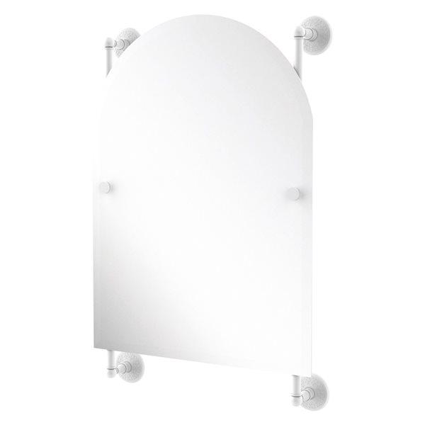 Allied Brass Monte Carlo 21-in Matte White Arch Frameless Bathroom Mirror