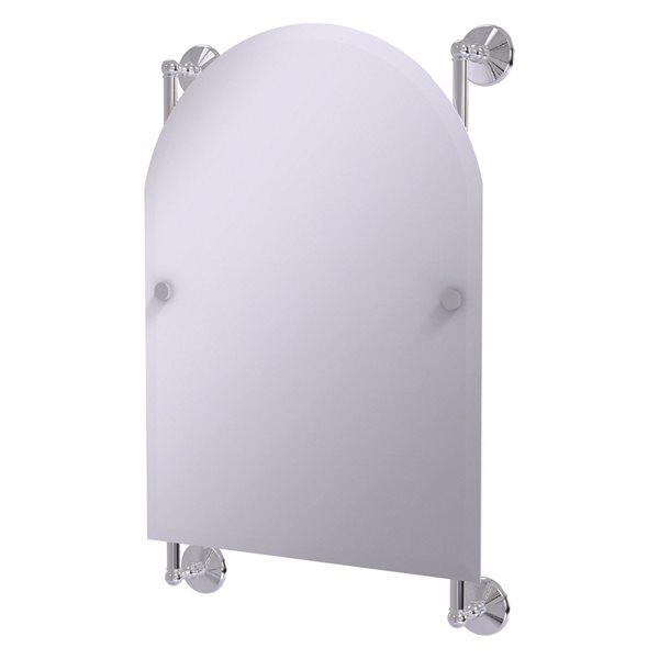 Allied Brass Monte Carlo 21-in Polished Chrome Arch Frameless Bathroom Mirror