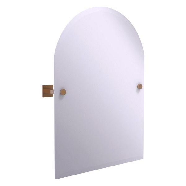 Allied Brass Montero 21-in Brushed Bronze Arch Frameless Bathroom Mirror
