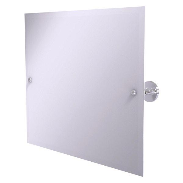 Allied Brass Prestige Skyline 21-in Polished Chrome Rectangular Frameless Bathroom Mirror