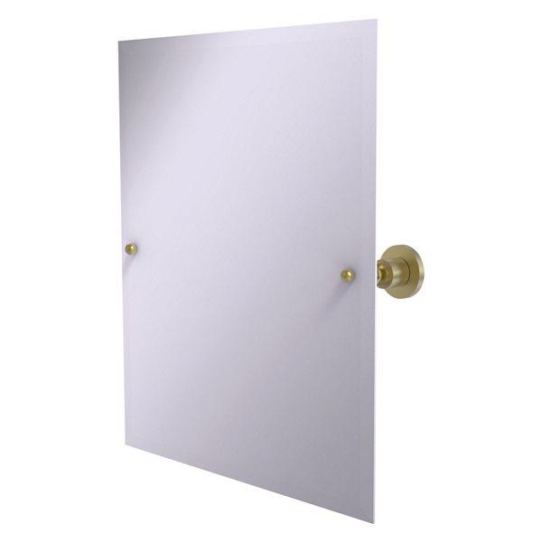 Allied Brass Astor Place 26-in Satin Brass Rectangular Frameless Bathroom Mirror