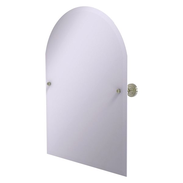 Allied Brass Dottingham 29-in Polished Nickel Arch Frameless Bathroom Mirror