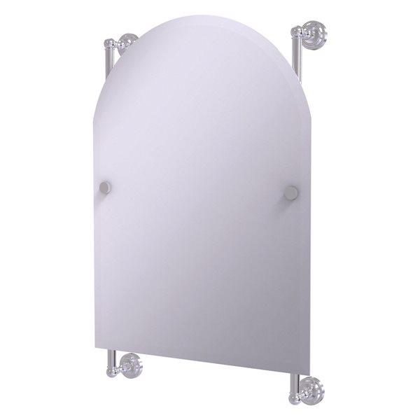 Allied Brass Dottingham 21-in Satin Chrome Arch Frameless Bathroom Mirror