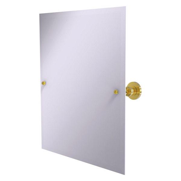 Allied Brass Astor Place 26-in Polished Brass Rectangular Frameless Bathroom Mirror