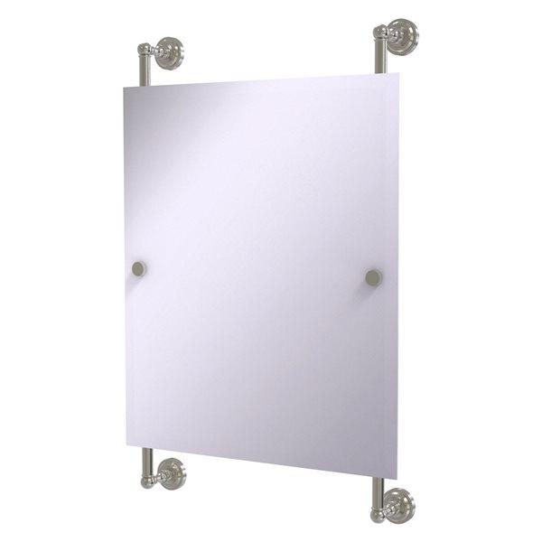 Allied Brass Dottingham 21-in Satin Nickel Finish Rectangular Frameless Bathroom Mirror