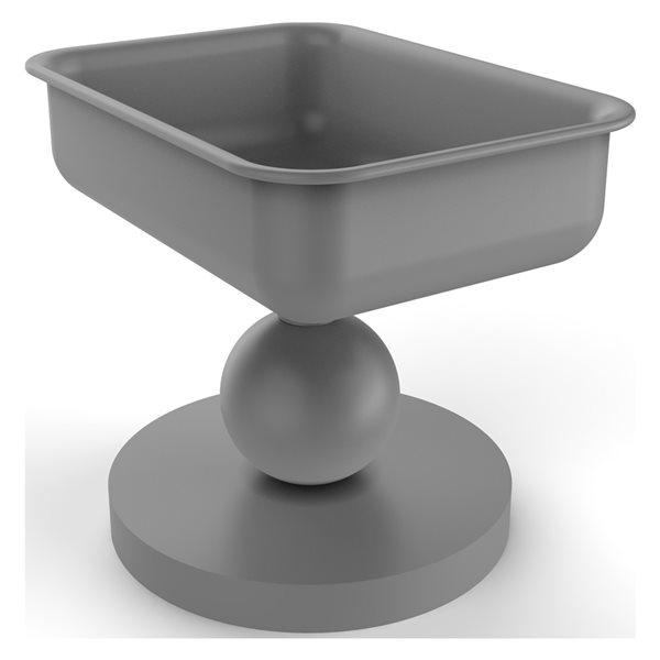 Allied Brass Vanity Top Matte Grey Brass Soap Dish