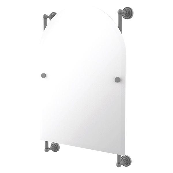 Allied Brass Dottingham 21-in Matte Grey Arch Frameless Bathroom Mirror