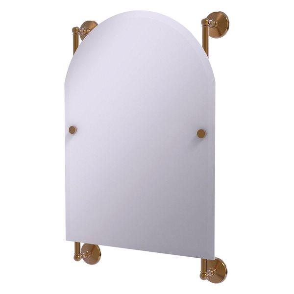 Allied Brass Monte Carlo 21-in Brushed Bronze Arch Frameless Bathroom Mirror