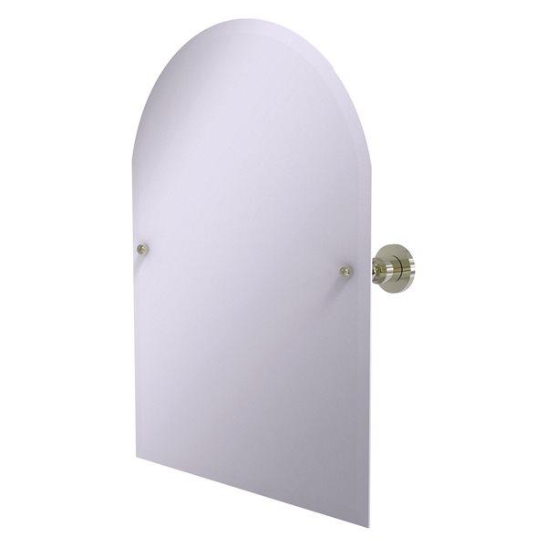 Allied Brass Astor Place 29-in Polished Nickel Arch Frameless Bathroom Mirror