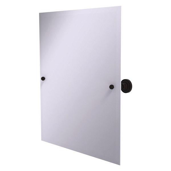 Allied Brass Dottingham 26-in Oil Rubbed Bronze Rectangular Frameless Bathroom Mirror