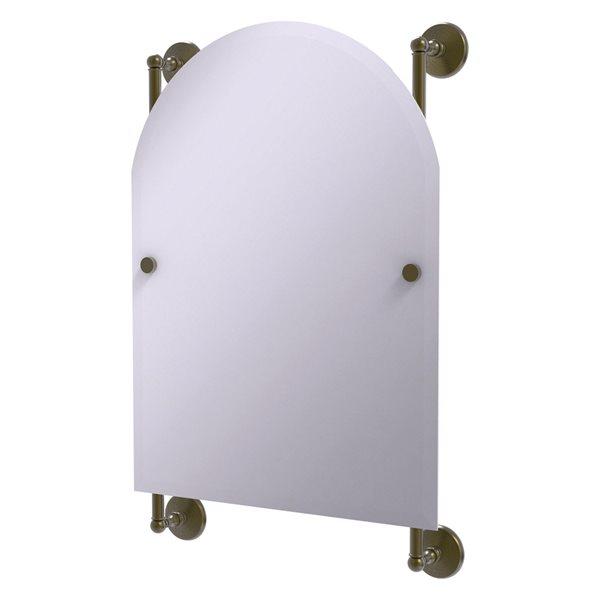 Allied Brass Monte Carlo 21-in Antique Brass Arch Frameless Bathroom Mirror