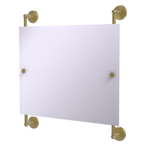 Allied Brass Monte Carlo 26-in Satin Brass Rectangular Frameless Bathroom Mirror