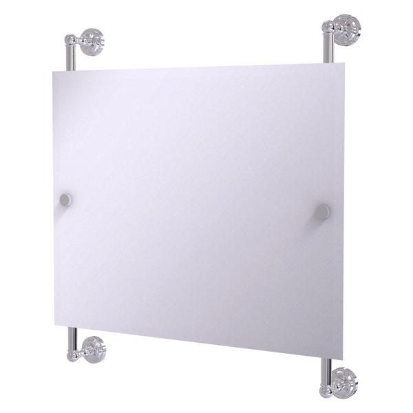 Allied Brass Dottingham 26-in Polished Chrome Finish Rectangular Frameless Bathroom Mirror