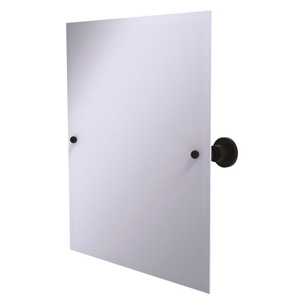 Allied Brass Astor Place 26-in Oil Rubbed Bronze Rectangular Frameless Bathroom Mirror
