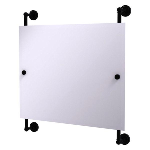 Allied Brass Dottingham 26-in Matte Black Finish Rectangular Frameless Bathroom Mirror
