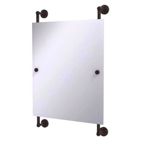 Allied Brass Dottingham 21-in Venetian Bronze Finish Rectangular Frameless Bathroom Mirror
