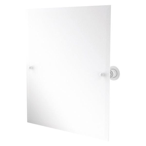Allied Brass Astor Place 26-in Matte White Rectangular Frameless Bathroom Mirror