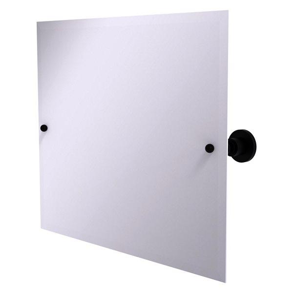 Allied Brass Astor Place 21-in Matte Black Rectangular Frameless Bathroom Mirror