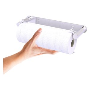 Allied Brass Satin Chrome Metal Wall-Mounted Paper Towel Holder