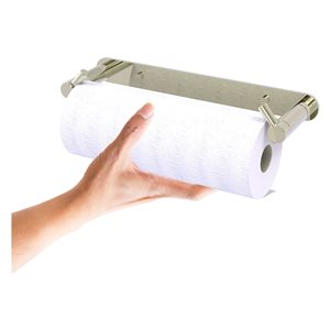 Allied Brass Polished Nickel Metal Wall-Mounted Paper Towel Holder