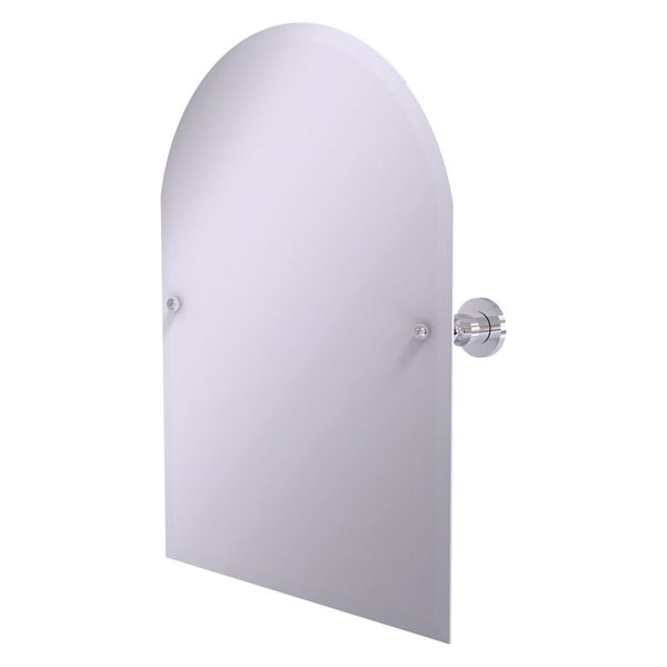 Allied Brass Astor Place 29-in Polished Chrome Arch Frameless Bathroom Mirror