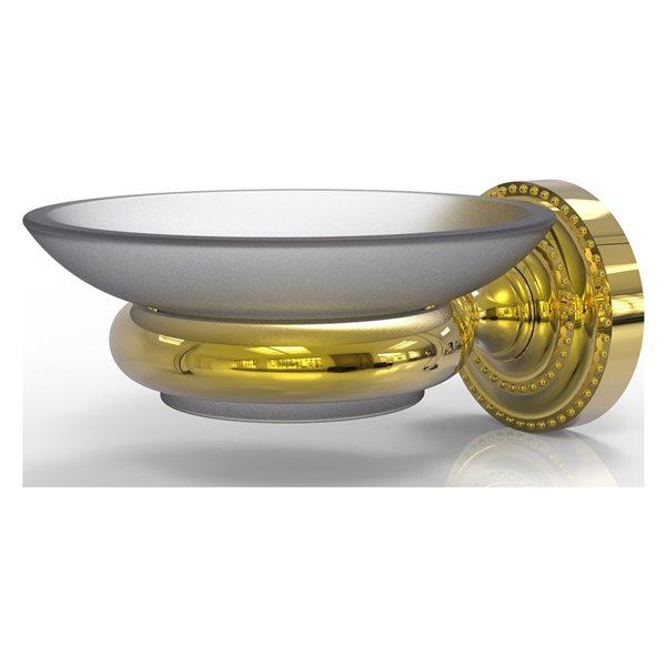 Allied Brass Dottingham Wall Mounted Polished Brass Soap Dish